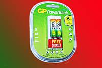 Зарядное устройство GP Power Bank  АА-ААА плюс 2 аккумулятора AA 2700мА-ч