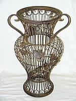 Купить , продам кованую декоративную вазу в сад, на могилу , ваза для зонтов. кованая ваза на заказ любой слож
