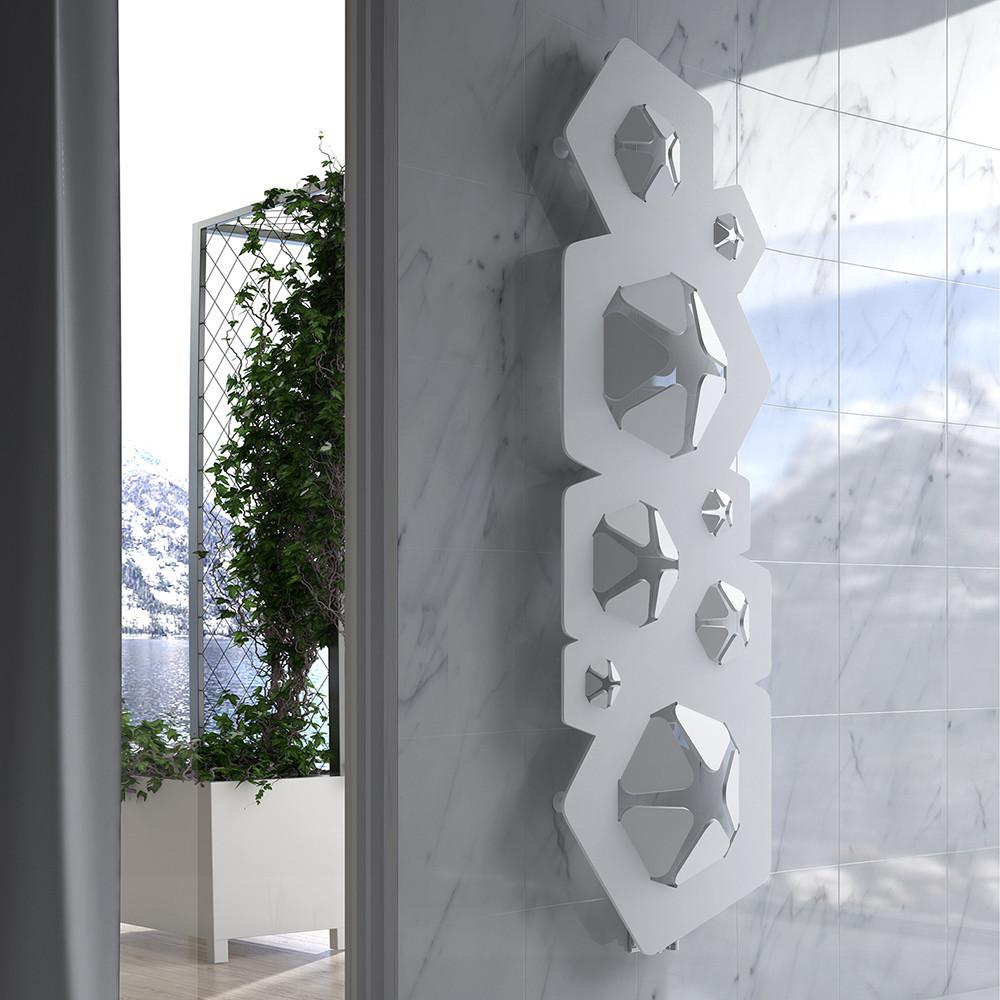 Дизайн радиатор Hotech BLOOM цвет White