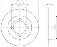 RE 6447.00 = 24.0110-0229.1 Тормозной диск REMSA