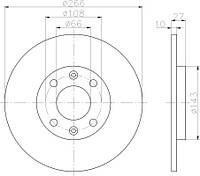 KR 6045900 = PL 5093 Тормозной диск