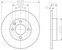 FE DDF042 = PL 5151 Тормозной диск FERODO