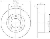 KR 6055900 = PL 5371 = 24.0107-0105.2 Тормозной диск