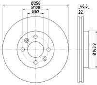 A1081P = DF1013 Тормозной диск SAMKO
