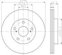 CJ3-2156 = 24.0122-0256.1 Тормозной диск TOKO