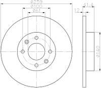 FEBI 30652 = C3R034 Тормозной диск