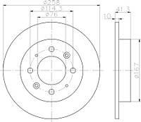 FE DDF1541 = C40307 Тормозной диск FERODO