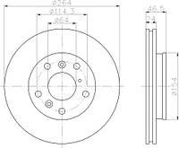 SAK 604-30-3530 = PL V504 = 24.0124-0105.1 Тормозной диск