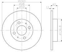 08.5085.10 = PL 5031 Тормозной диск BREMBO