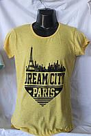 Футболка женская Dream city,Турция, 001 / купить женскую футболку дешево оптом со склада 7 км