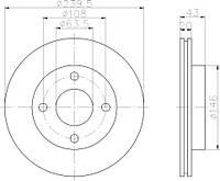 LM 16828 = PL V075 Тормозной диск