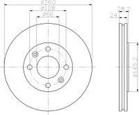 FE DDF870 = PL V083 Тормозной диск FERODO