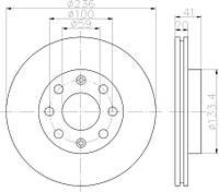 FE DDF1279 = 96574633 Тормозной диск FERODO