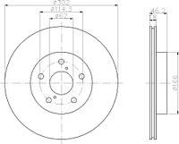 30H2068-JPN = DF4093  Тормозной диск JPN