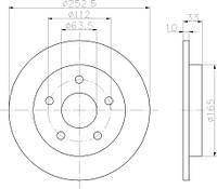 CF 800-121 = PL 5272 = 24.0110-0186.1 Тормозной диск CIFAM