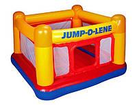 Детский игровой замок Intex 48260 для малышей, надувной батут для малышей 174*112см, надувной игровой центр