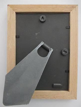 Рамка деревянная 10х15 коричневая, фото 2