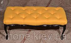 Банкетка в класичному стилі з гудзиками, фото 3