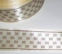 Лента атлас G 2,5 см, кремовая
