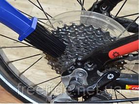 Щетка для обслуживания велосипедной цепи, звездочек, фото 2