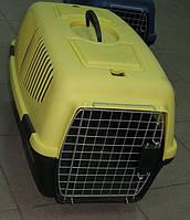 Переноска для кошек и собак ,Золотая клетка 083 IATA