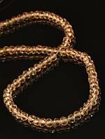 4 мм., Бусины из чешского хрусталя, стекла 45 см. 025444 гамма: Коричневый фурнитура для создания украшений и бижутерии
