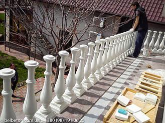 Закрепление балясин на балконе