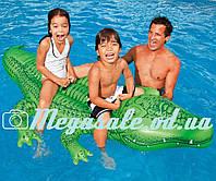 """Надувная детская игрушка с держателем для рук """"Крокодил"""" Интекс: 168х86см (Intex 58546)"""