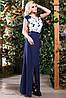Эффектное двухцветное платье в пол, фото 2
