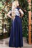 Эффектное двухцветное платье в пол, фото 3