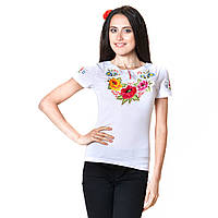 "Женская футболка с вышитым рукавом ""Калинове диво"", фото 1"