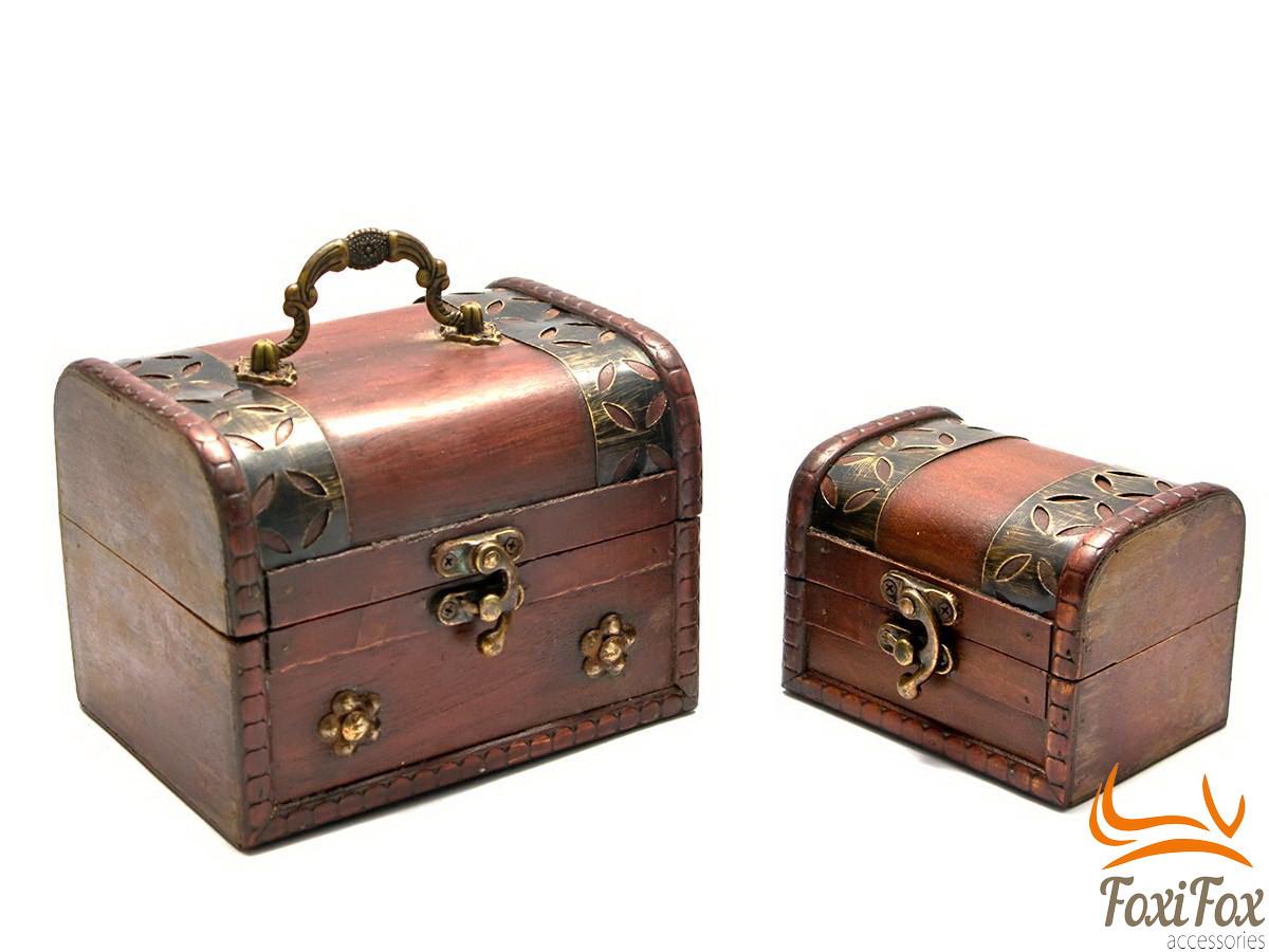 Набор старинных деревянных сундуков - FOXI-FOX.COM онлайн маркет подарков в Харькове