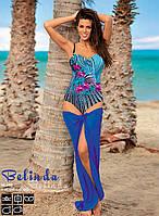 Сдельный пляжный купальник с цветами (3 цвета)