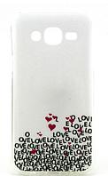 """Силиконовый чехол """"Love"""" для Samsung Galaxy J5"""