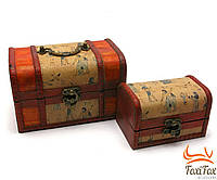 Набор деревянных сундуков для украшений