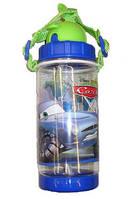 "Бутылка для воды с трубочкой ""Cars, Тачки - шпион"""
