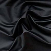 Стрейч-кожа матовая - цвет черный