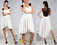 Белое платье ассиметрия Taylor