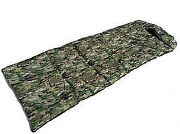"""Спальный мешок - одеяло """"Camping Extreme"""", камуфлированный, Украина"""