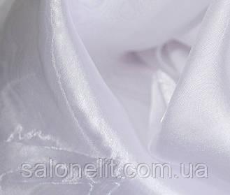 Тюль  (занавес, гардина) муар , микровуаль белоснежнаяОСТАТКИ