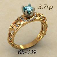 Презентабельное женское золотое кольцо 585*
