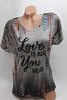 Молодежные женские футболки Турция оптом 44-48 LF