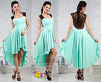 Бирюзовое платье ассиметрия Taylor