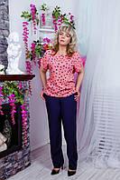 Розовая блуза в мелкие сердечки, фото 1