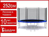 Батут детский Just Jump 252 см, сетка, лестница (обычные ножки)