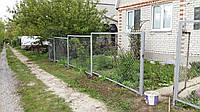 Забор из сетки рабицы секционный, фото 1