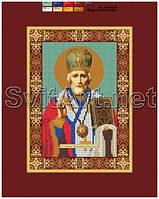 Схемы для вышивки бисером на холсте Св. Николай