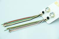 Женские длинные серьги. Бижутерия оптом недорого. 2098