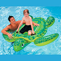 """Детский надувной плотик """"Черепаха"""" Intex 56524 191*170см, надувная игрушка для бассейна, плотик надувной"""
