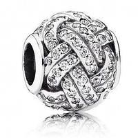 Шарм Pandora серебро, Пандора Паве, серебро
